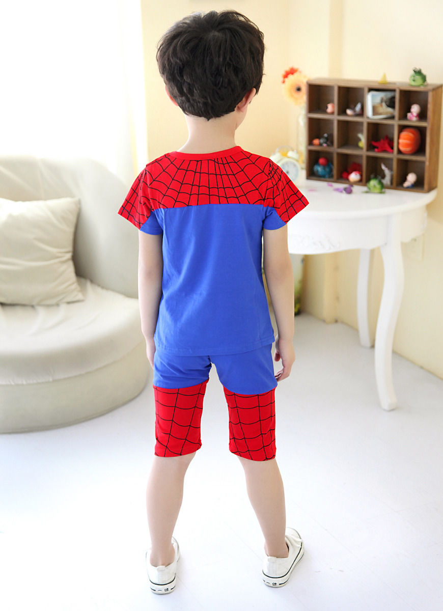 2b009a5c4 Amazing Baby Kids Boys Clothes Suit Spider man Tees Newest Cool Outfits set  UK on Aliexpress.com