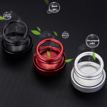 Car perfume seat double ring magnetic suspension rotating aromatherapy high-end car interior decoration box