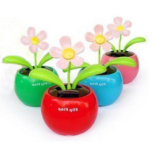 Solar Powered Flip Flap Sunflower Plant Desktop Toy