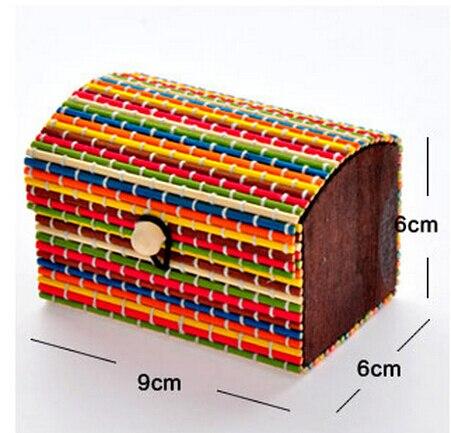 6 pcs/lot small wood storage box,colourful make up organizer,jewelry