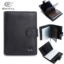 Famous Brand Large Bifold Travel Wallets Passport Bag Genuine Real Leather Wallet Credit ID Card Slots Coin Pouch Purse