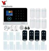 Yobang Security LCD Display WIFI Alarm System Wired Siren Kit RFID GSM SMS Alarm House intelligent DIY Burglar Security System