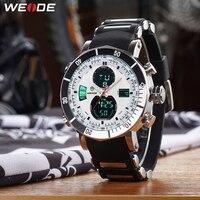 WEIDE Sports Men Stopwatch Date Military Army Quartz LCD Digital Quartz Movement Alarm Dual Time Zone Watch Relogio Masculino