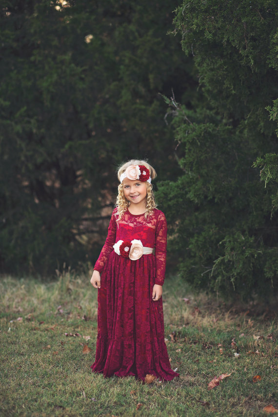 Long Sleeve Flower Girl Dresses for Wedding Children Clothing Lace Girls Dresses for Party and Wedding Baby Girl Dress summer 2017 new girl dress baby princess dresses flower girls dresses for party and wedding kids children clothing 4 6 8 10 year