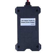 MYLB-MP0514A 12V Цифровой тестер батареи Вольтметр и система зарядки анализатор с ЖК-дисплеем и светодиодный индикацией-черный