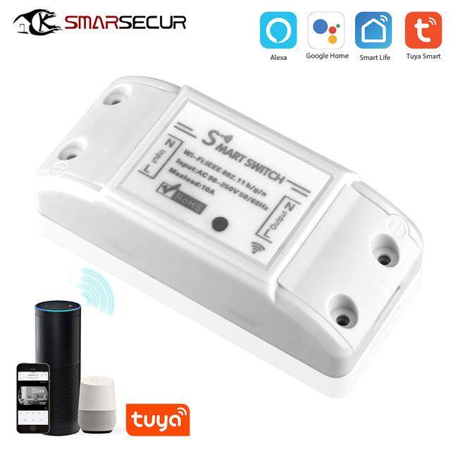 Tuya Wifi Switch DIY Wireless Remote Domotica Light Smart Home Automation Relay Module Controller Work with Alexa 1