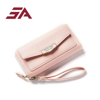 SA New Ladies Purses Female pu Leather Wallets Woman Wallet Card Holder Clutch femme Women Long Zipper crossbody bag