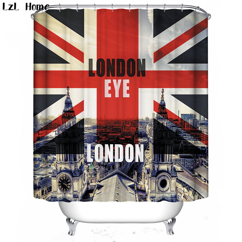 LzL Home rice flag pattern shower curtains cheap high quality ...