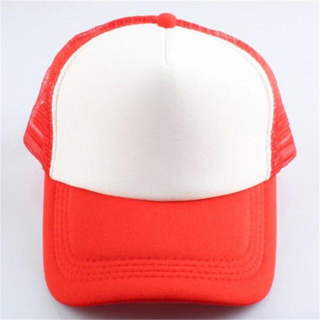 Blanco rojo clásico del camionero de espuma malla frontal curvado visera  gorra de béisbol sombreros KH 7be6b21b7bf