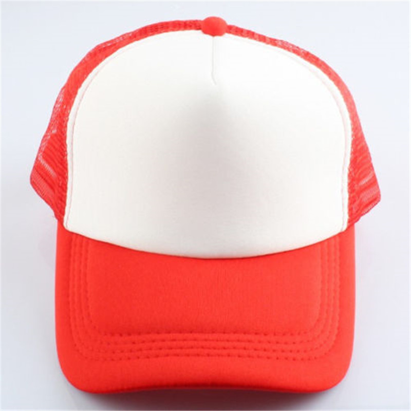 red white baseball hat classic trucker foam font front mesh curved visor blue caps and striped cap