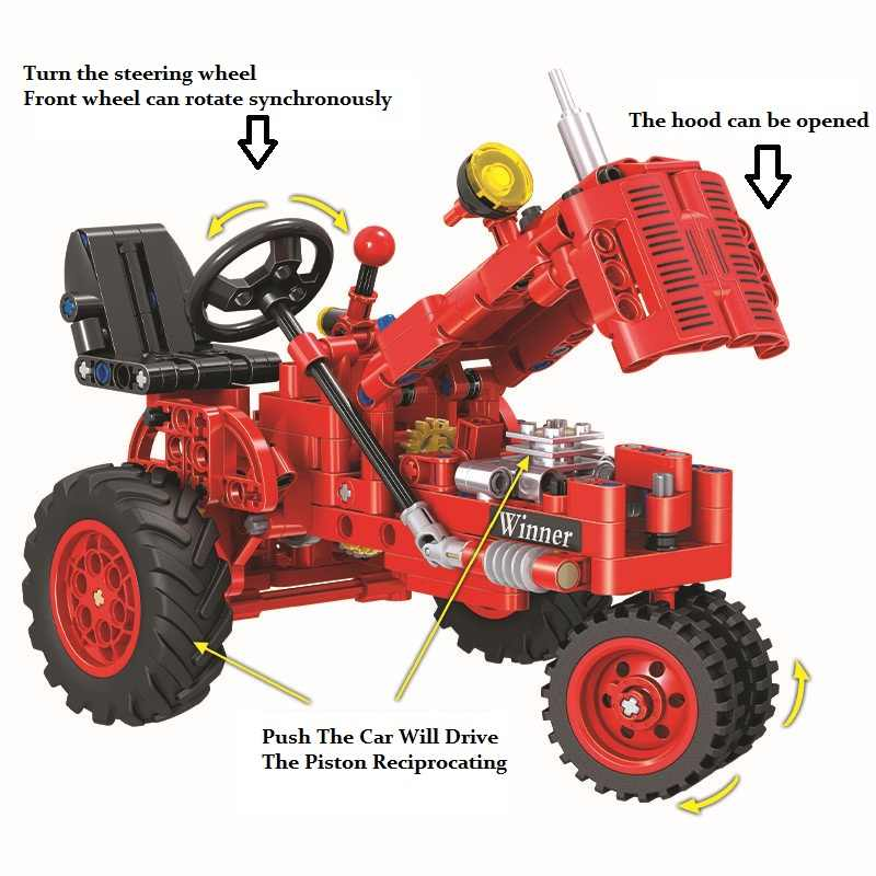 Classic Tractor Motorcycle Technic Creator Model Building Blocks Bricks Technician Toys For Children Christmas Gifts brinquedos
