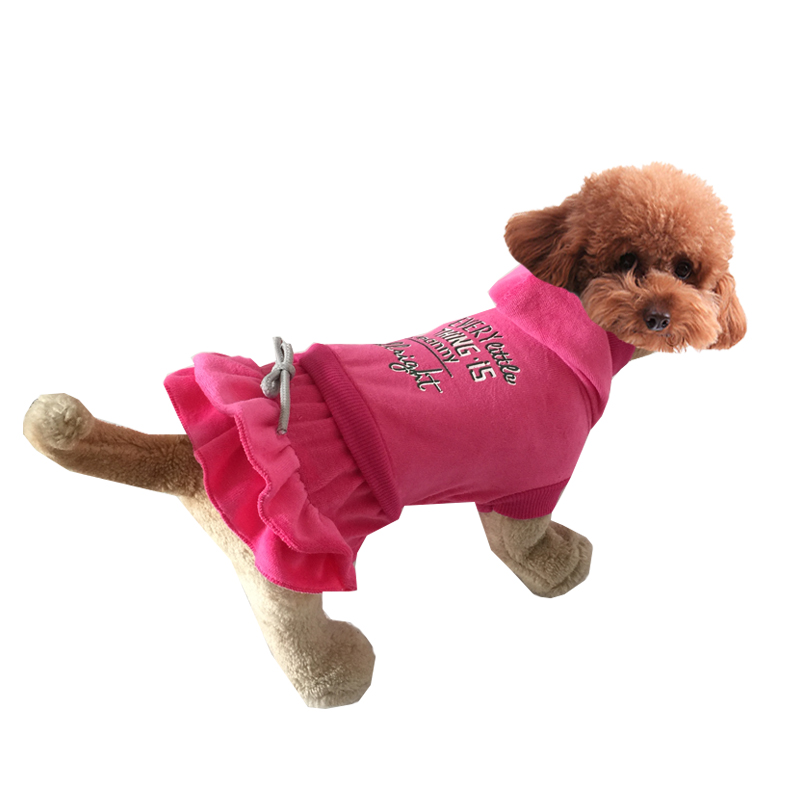 Cloth for Dogs Soft Velvet Style Pet Puppy Dog Winter Dress Clothes Teddy Dogs Vip Chihuahua Qiu Dong Outfit