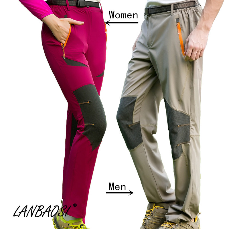 LANBAOSI Pantalón de viaje para mujeres / Hombres Tejido elástico - Ropa deportiva y accesorios