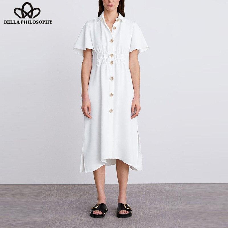 Wonder Summer Short Flare Sleeve Long Maxi Dress Vintage -7204