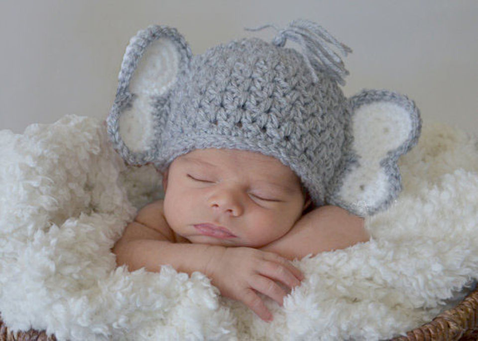 Cute Newborn Elephant Outfits Crochet Baby Elephant Hat Diaper Set  Photography Props Baby Halloween Costume 1set WLS 15002 J-in Hats   Caps  from Mother ... f575479fc58