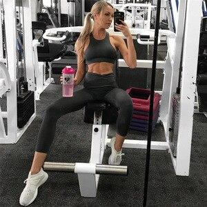 Image 2 - 2019 Sportswear Frau Gym Kleidung Sport Yoga Set Sport Bh und Legging Hosen Fitness anzug Sexy Workout Kleidung für frauen