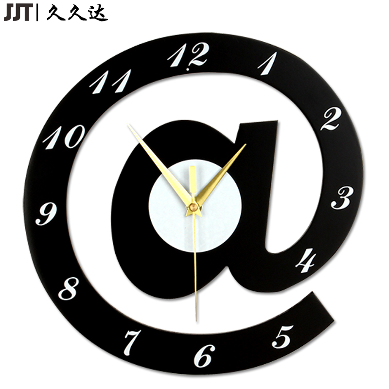 US $38.0 |MDF Lovely Modern Clock High Quality 30cm Decorative Wood Wall  Clock Living Room houten klok Free Shipping-in Wall Clocks from Home &  Garden ...