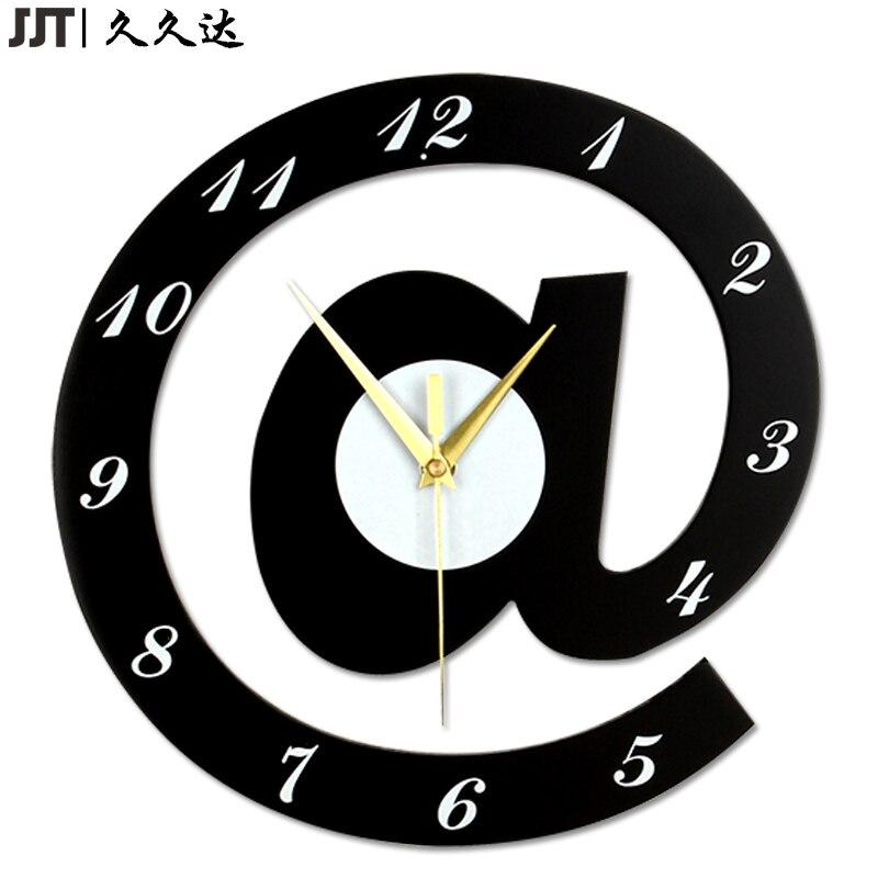 MDF belle horloge moderne de haute qualité 30 cm horloge murale décorative en bois salon houten klok livraison gratuite