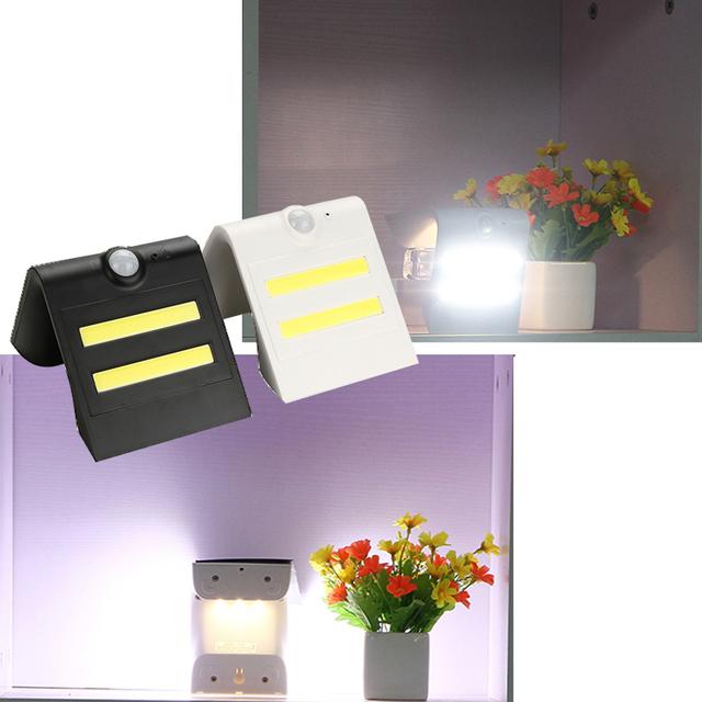 3LED 2 COB Solar Smart LED Solar Light Outdoor Solar Powered Motion Sensor Security Wall Light Garden Three Modes Bright lamp