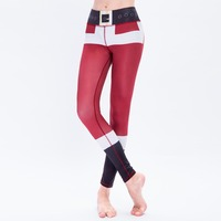 2017 Happy New Year Gift Christmas Leggings Tree Snow Printing Slim Low Waist Workout Fitness Women Leggings Pants Trousers
