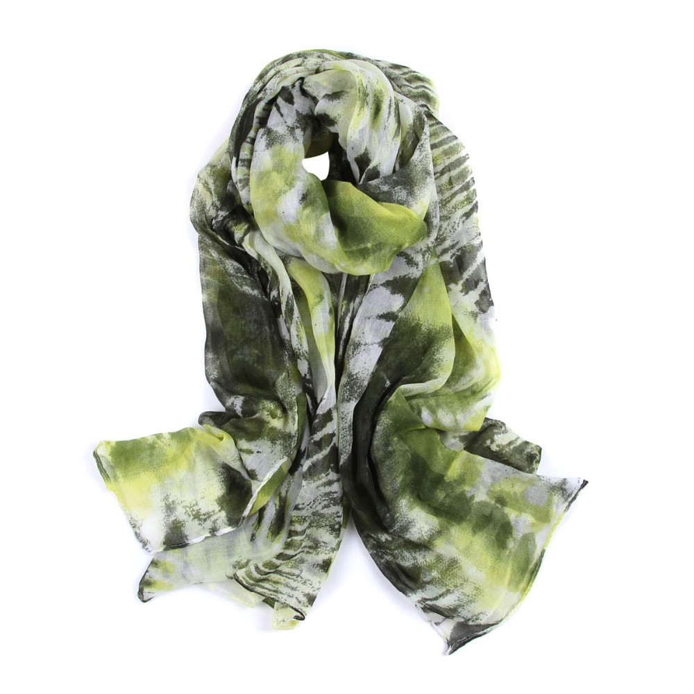 Ice Dyed Painting Scarves | Lightweight Scarves