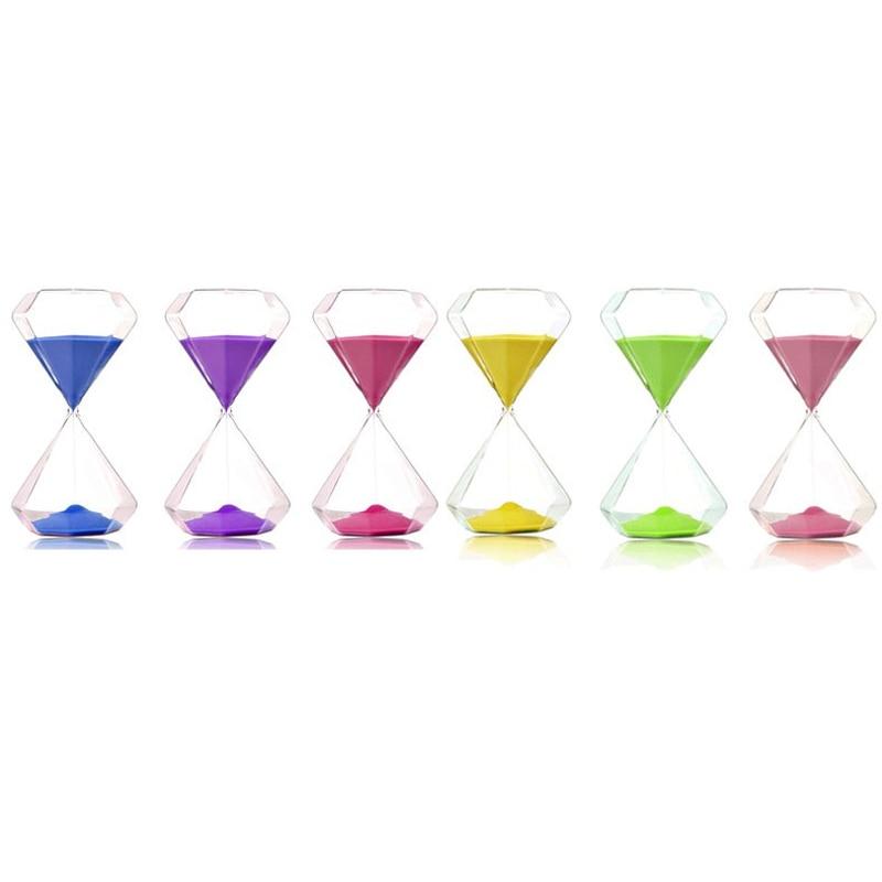 OUYUN 5 minuters färgglas timglas 6 * 6 * 11.7cm bröllop diamant - Heminredning - Foto 6