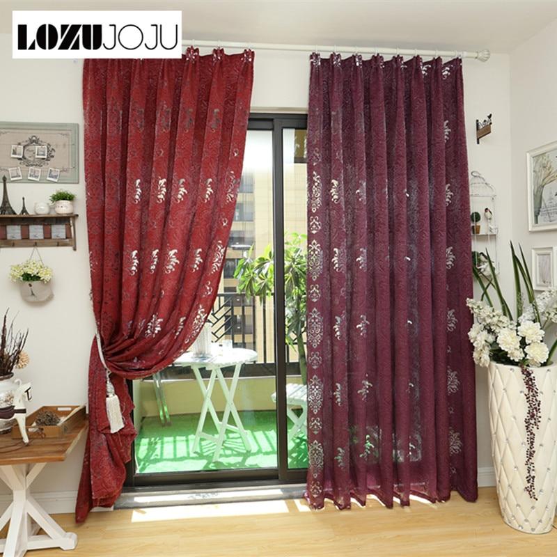 Luxury Kitchen Curtains: LOZUJOJU Free Shipping Luxury Tulle Design Bedroom Coffee