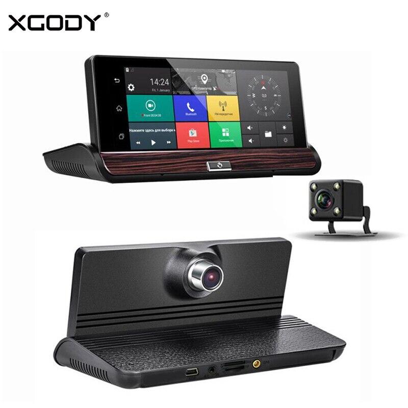XGODY V40 7 дюймов Видеорегистраторы для автомобилей gps навигации wi fi 3g Touch Android регистраторы навигатор заднего вида Камера 16 ГБ Встроенная памят
