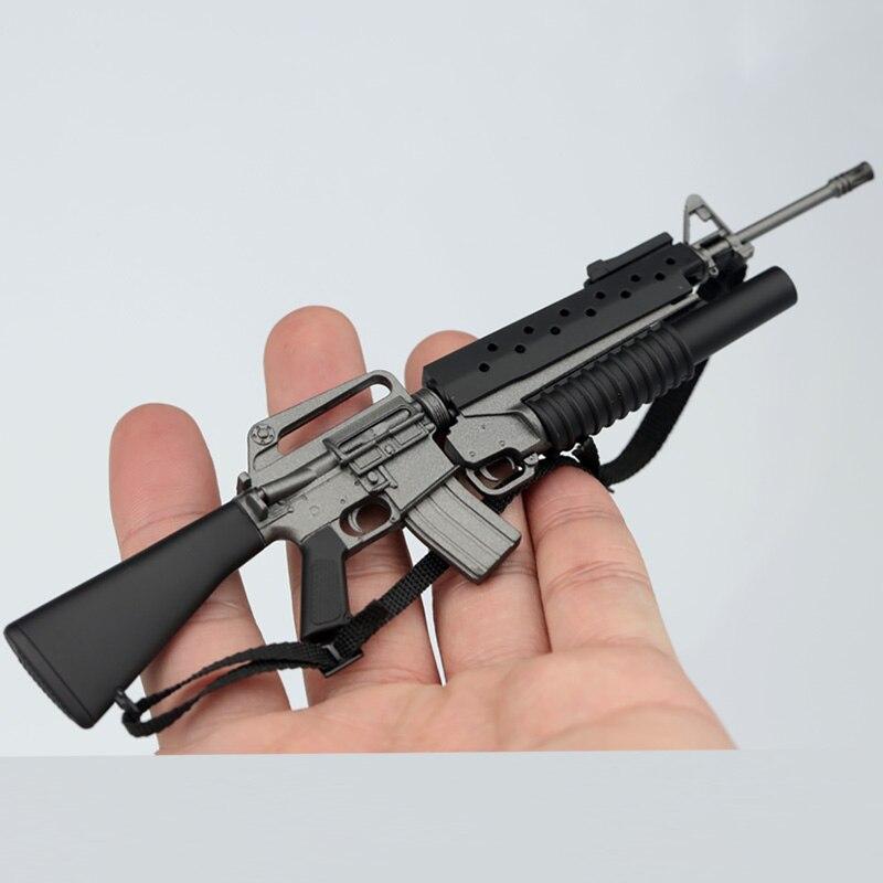 """1//6 Scale Weapon Model Plastic M16A1+M203 Assault Rifle Gun F 12/"""" Action Figure"""