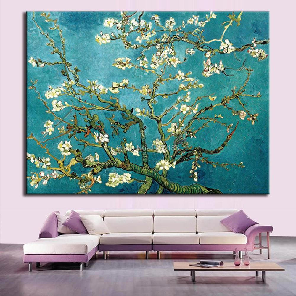 Prints Flower Oil Painting On Canvas The Almond Blossom Van Gogh ... for Almond Blossom Van Gogh Poster  181pct