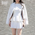 Американский стиль белый подлинная кожаные куртки женщин 100% Овчины мотоциклетная куртка весте ан cuir femme jaqueta де couro LT1015