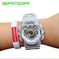 Male Fashion Sport Military Wristwatches 2016 New SANDA Watches Men Luxury Brand 3ATM Dive LED Digital Analog Quartz Watch Clock
