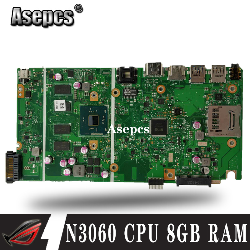 X541SA N3060 CPU 8GB RAM Mainboard For ASUS X541 X541S X541SA laptop motherboard 100% Tested 90NB0CH0 R00020
