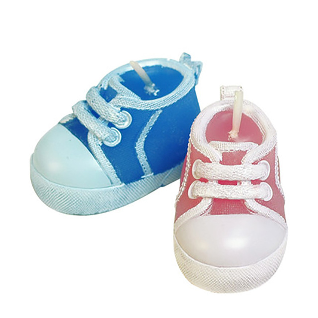Childrens Birthday Candle 100 Days Old Baby Shoes Scented Candle