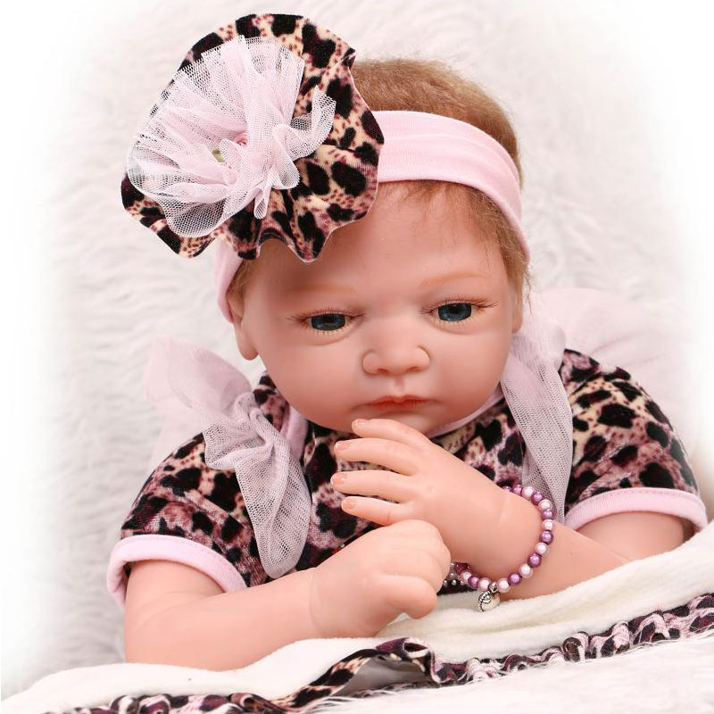 ФОТО Fashion Doll Realistic 22inch Silicone Reborn Dolls Toys 55cm Boneca Bebe Reborn Lifelike Newborn Juguetes Babies Toys For Kids
