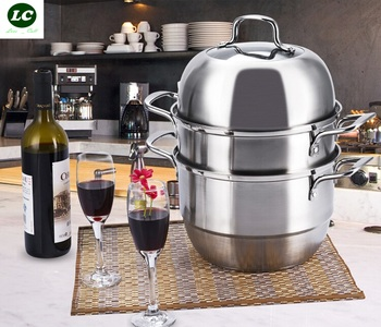 FREE SHIPPING steamer pot UTENSIL stainless steel food 3 layer cooking pot steamed food casserole