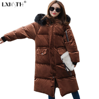 New Thicker Velvet Parka Women Jackets Thick Coat Real Raccoon Fur Hooded Female Zipper Thicken Jacket