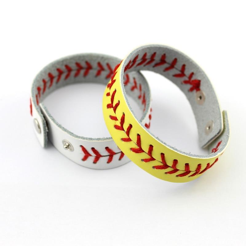 Online Oakland Athletics Clic Baseball Bracelet Snap On Fashion Wristlet Braves Softball Sports Leather Jewelry Aliexpress
