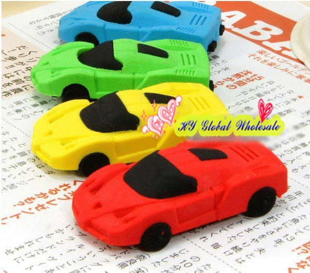 32pcs/lot Cute Car Styling Designer Students Car Shape Eraser Rubber Stationery Kid Creative Gifts Toy School Supplies