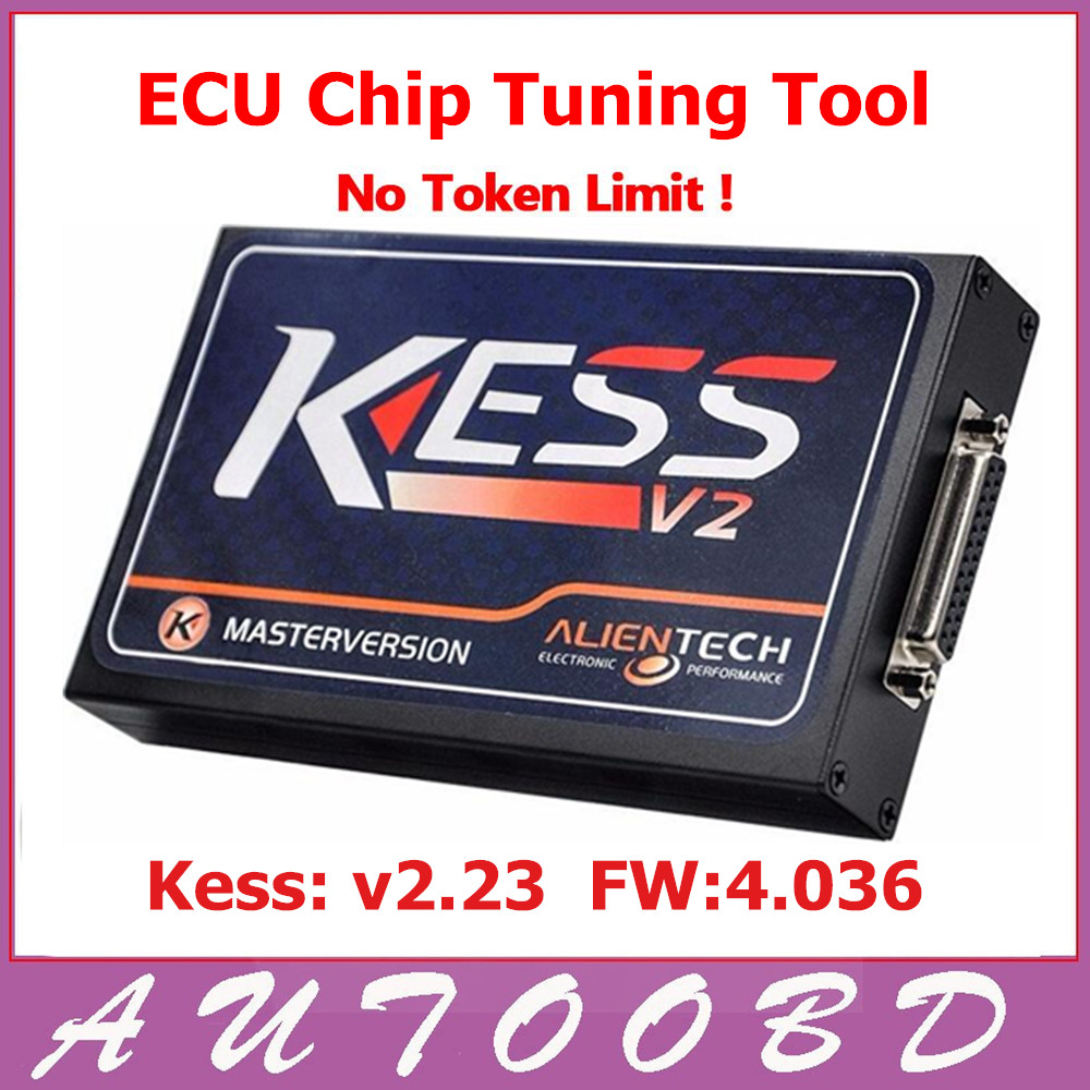 ФОТО Hot Sell KESS V2 V2.23 4.036 HW V4.036 MASTER OBD2 Manager Tuning Kit No Token Limitation ECU Programming Chip Tuning Tool
