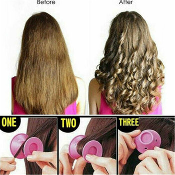 10pcs Magic Hair Care Rollers Silicone Hair Curler Natural No Heat No Clip Hair Curling DIY Styling Auxiliary Tool for women