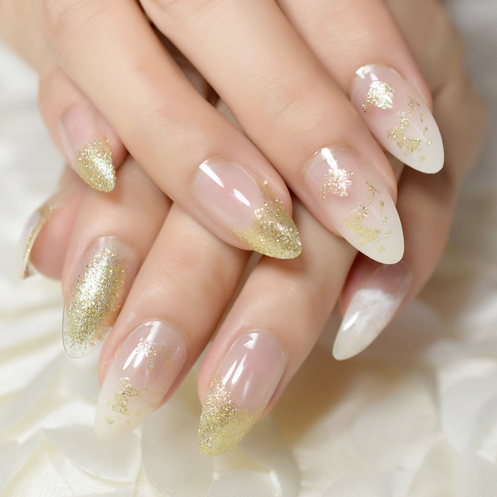 Natural Clear Stiletto Almond Display Coffin Gentle Full Cover Falsenail Tips Health & Beauty Artificial Nail Tips