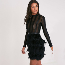 2d5493948ab00 Buy feather cocktail knee length dress and get free shipping on ...