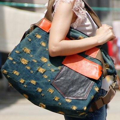 Sac à main en Denim femmes sac Messenger rétro portable sac à main coréen grande capacité Top qualité