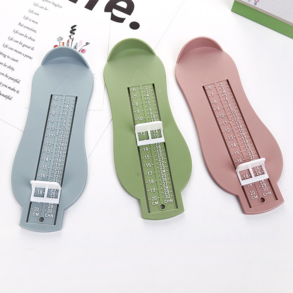 3 Colors Baby Foot Ruler Kids Foot Length Measuring device child shoes calculator for chikdren Infant Shoes Fittings Gauge Tools
