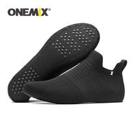 ONEMIX Men Indoor Hosiery Socks Slip on Innner Slippers High Elastic Breathable Ligthweight Sandals Knitting Women Walking Shoes