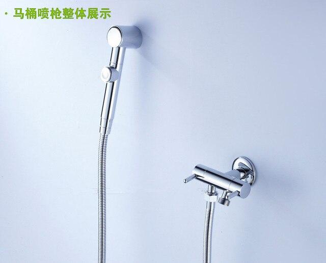 Griff Malerei weiß Badezimmer Wasserhahn Hot Cold, Toilette Wasserhahn.