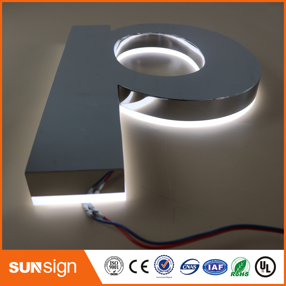 LED Illuminated Letter Signs With Stainless Steel Shell