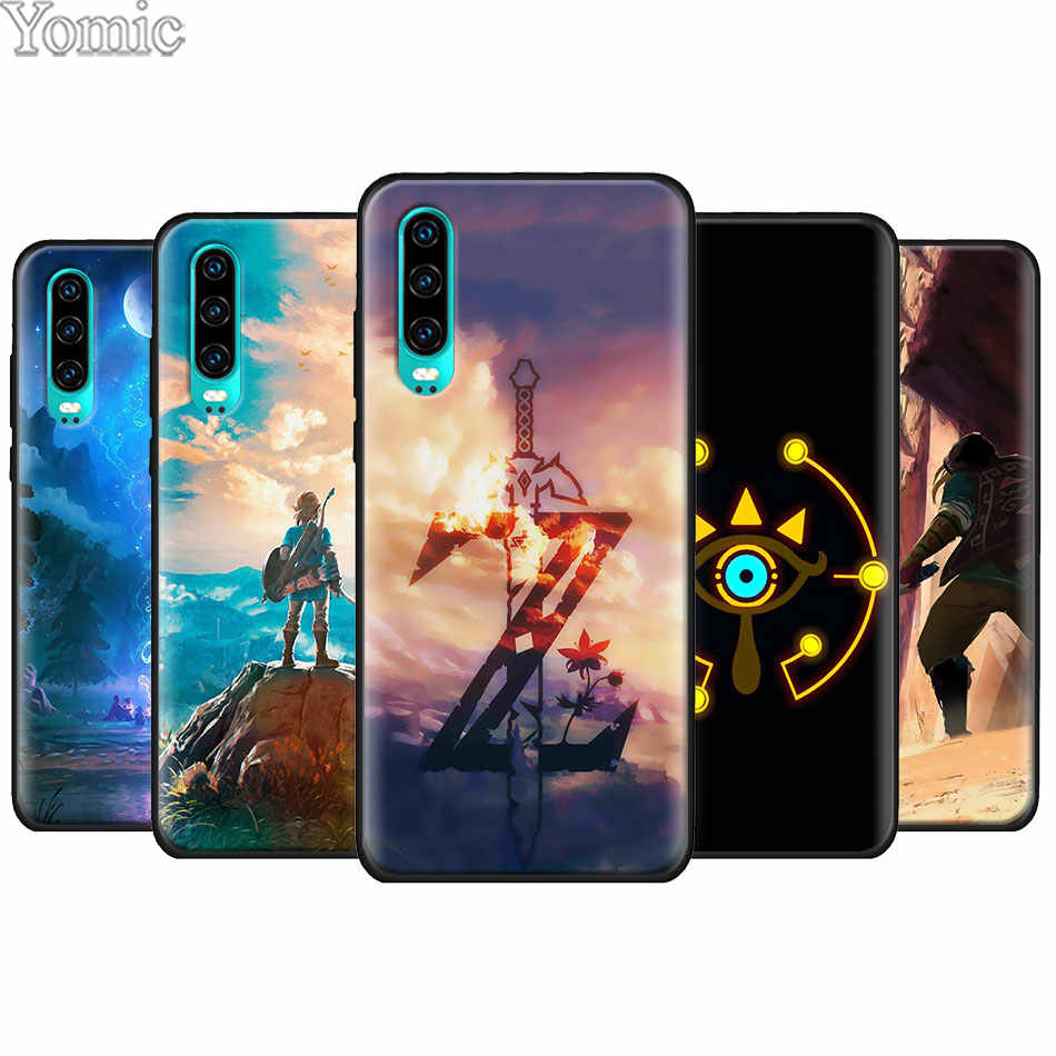 The Legend of Zelda Black Soft Case for Huawei P20 P30 Pro P9 P10 P20 P30 Lite P Smart Plus Mate 10 20 Lite Case Cover