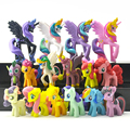 16pcs/lot  Cartoon Pets Horse Unicorn  Toys Action Figures Christmas Little Gift
